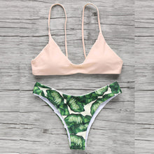 Load image into Gallery viewer, Pink Leaf Bikini