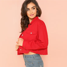 Load image into Gallery viewer, Red Crop Jacket