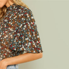 Load image into Gallery viewer, Multicolor Frill Mock Neck Top