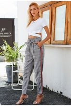 Load image into Gallery viewer, Bow Tie Plaid Stripe Pant