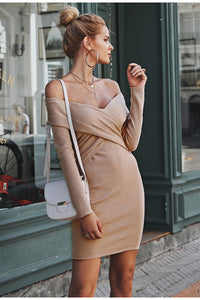 Criss Cross Sweater Dress