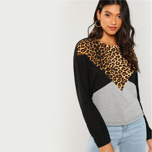 Load image into Gallery viewer, Leopard Cut Sweatshirt