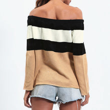 Load image into Gallery viewer, Patchwork Stripe It Up Sweater