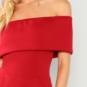 Bold Red Party Dress