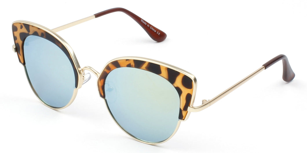 Spotted Round Cat Sunglasses