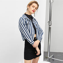 Load image into Gallery viewer, Navy Stripe Jacket