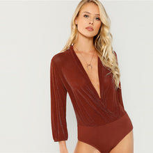 Load image into Gallery viewer, Wrap Plunge Bodysuit