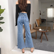 Load image into Gallery viewer, High-waist Button Up Flared Jeans