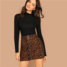 Load image into Gallery viewer, Leopard Zipper Skirt