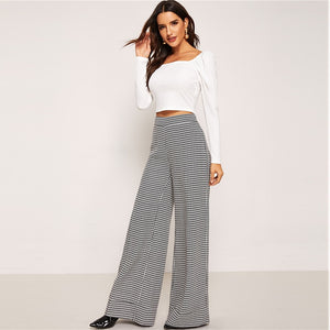 Plaid Work Wide Leg Pant