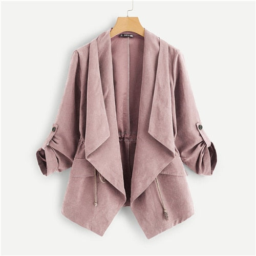 Spring Pink Crop Trench Coat