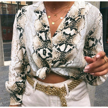 Load image into Gallery viewer, Snakeskin Blouse Top