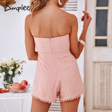 Load image into Gallery viewer, Sweet Pea Linen Romper