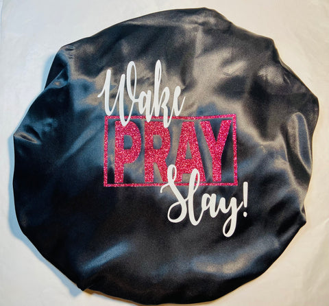 Wake Pray Slay - Satin Bonnet