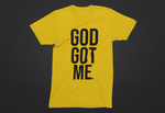 God Got Me Period Tee - Gold/Black
