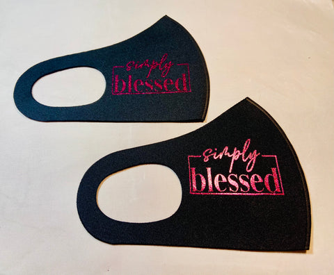 Simply Blessed - Face Mask