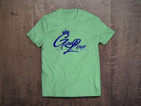 God's Love Navy Logo Canvas Tee - Leaf