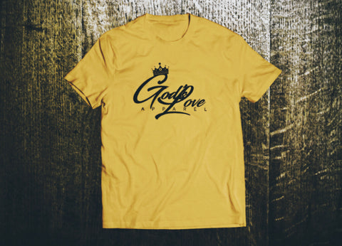 God's Love Black Logo Canvas Tee - Maize Yellow
