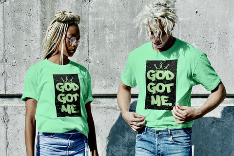 God Got Me Period Summer Tee - Lime/Black
