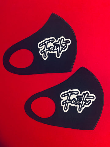 Faith Face Mask - Black