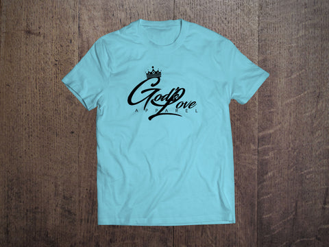 God's Love Black Logo Canvas Tee - Turquoise