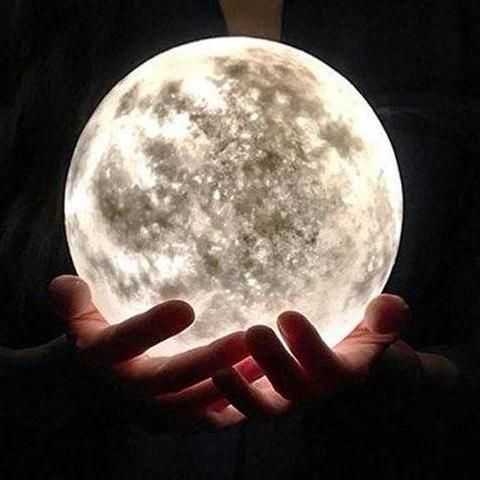 3d customize moon lamp