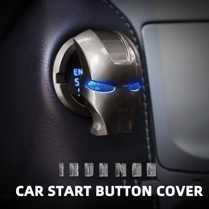 Iron Man Car Engine Start Button Cover