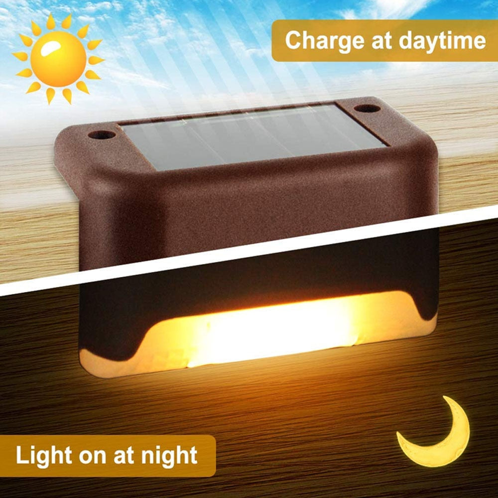 Solar Step Lights Outdoor Waterproof Led Solar Stair Fence Lamp