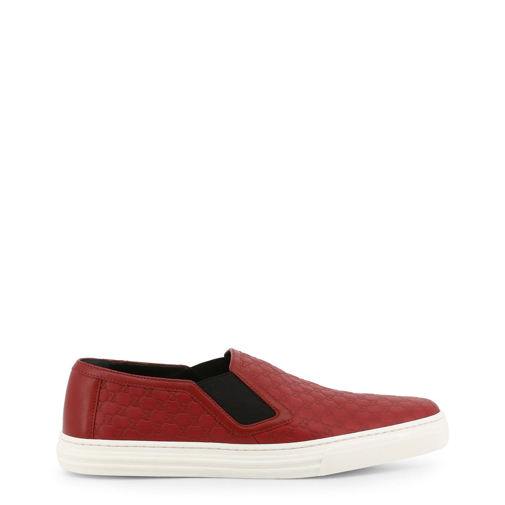 Gucci Red Leather Slip-on Trainers
