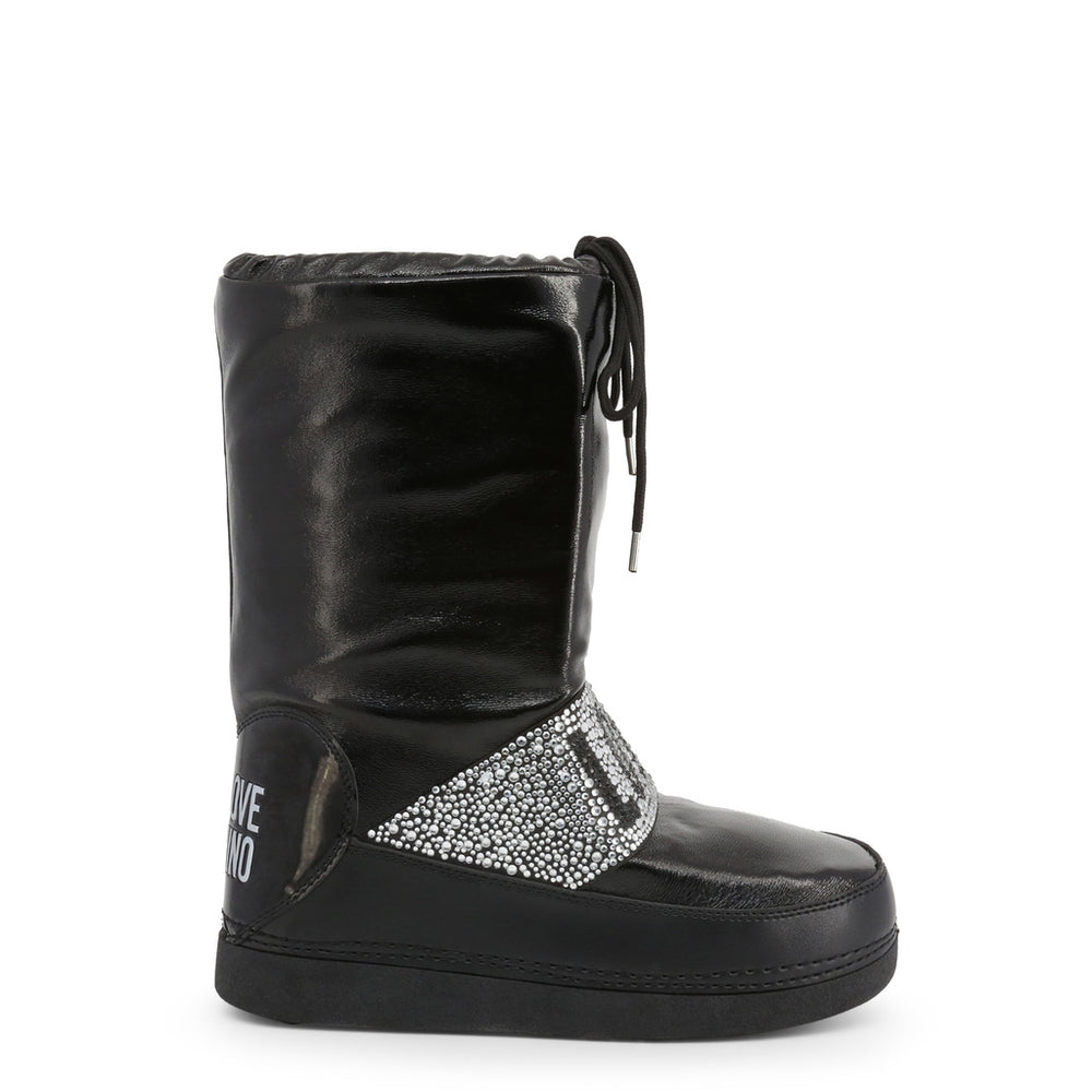Love Moschino Crystal Logo Snow Boots