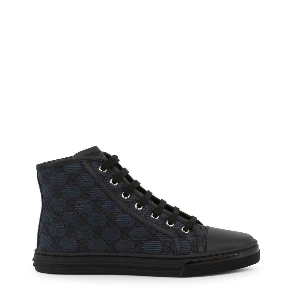 Gucci Black Canvas High-top Trainers