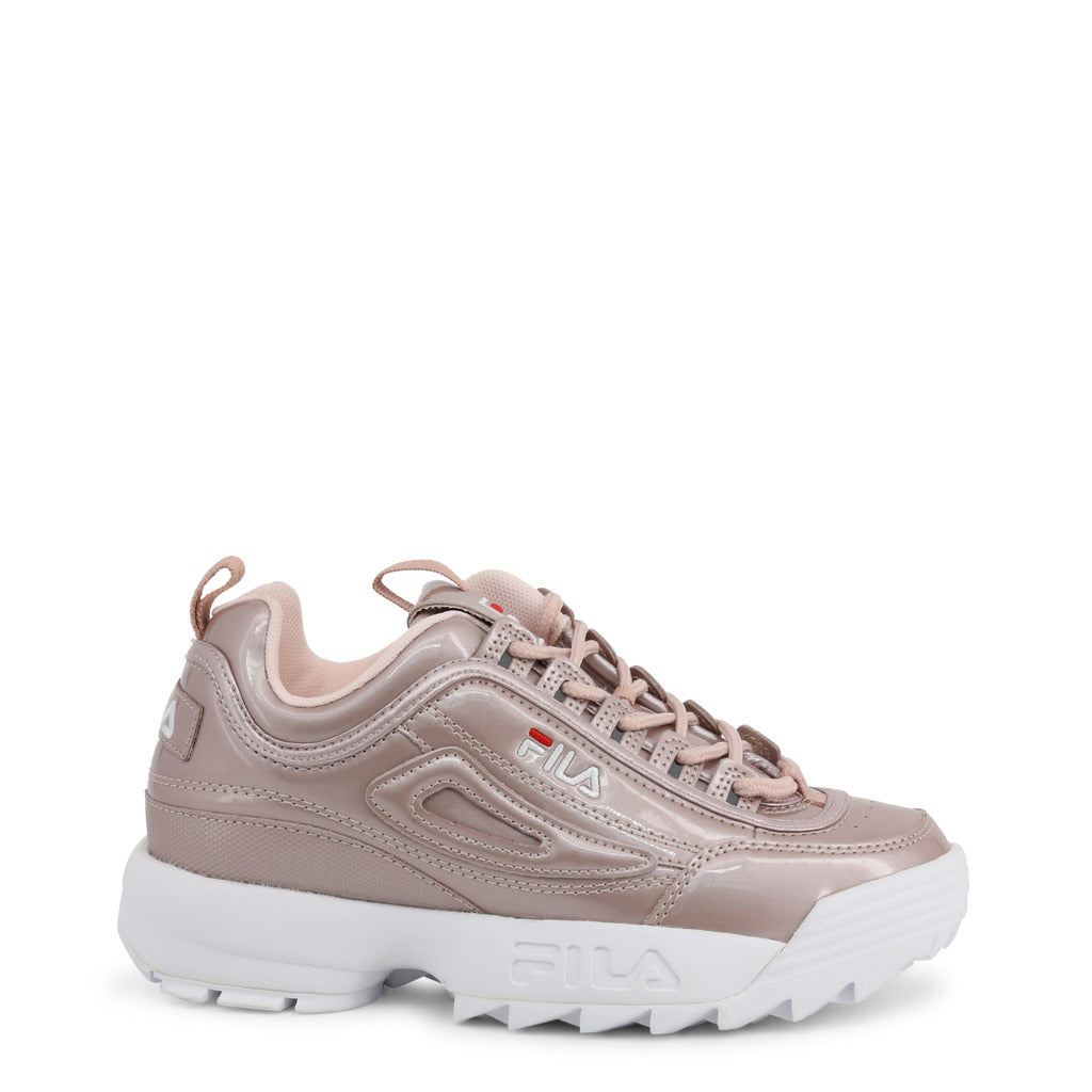 Fila Disruptor Metallic Low Trainers Shoes Sneakers | XOBYMAL