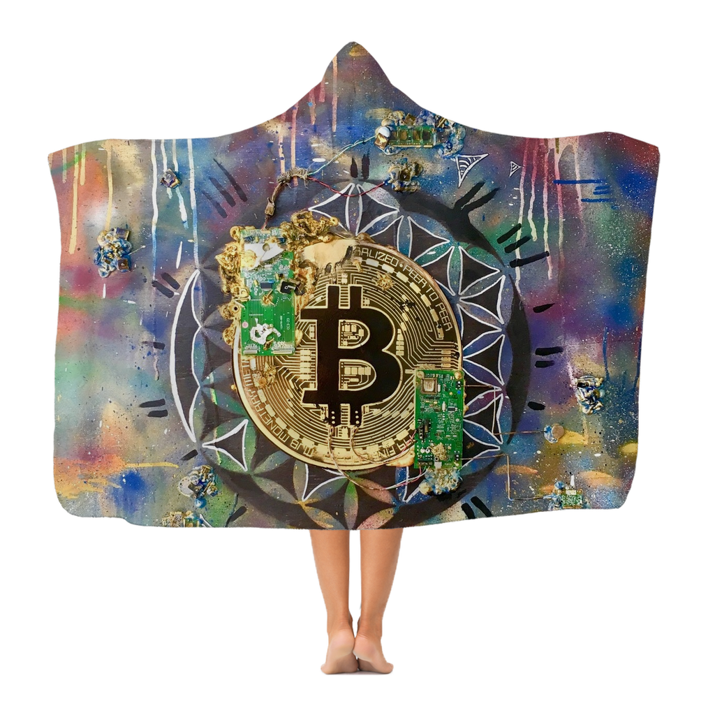 BTC EVERYTHING Premium Adult Hooded Blanket