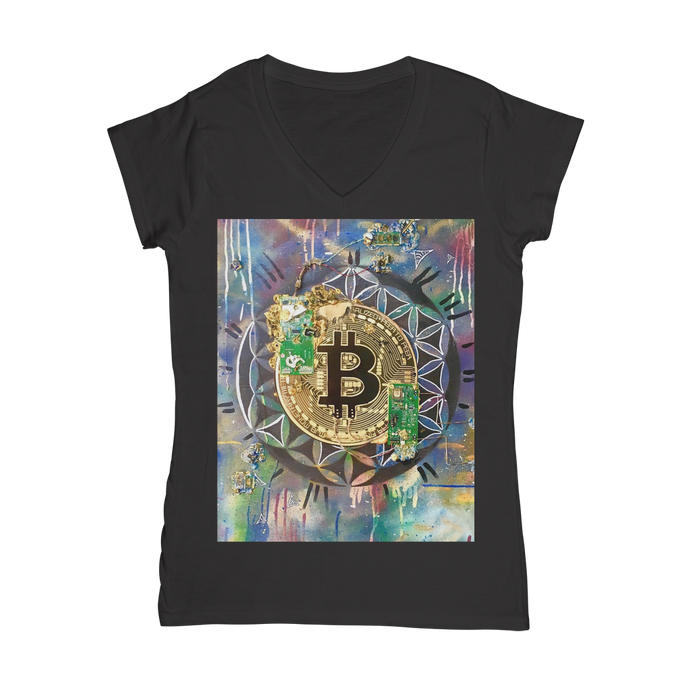 BTC EVERYTHING Classic Women's V-Neck T-Shirt