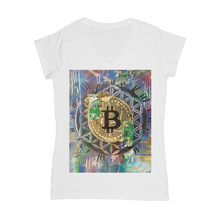 Load image into Gallery viewer, BTC EVERYTHING Classic Women's V-Neck T-Shirt
