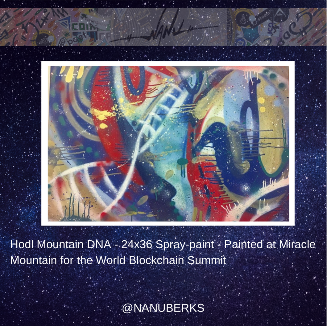 HODL Mountain DNA —  Original Painting