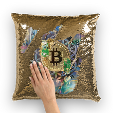 Load image into Gallery viewer, BTC EVERYTHING Sequin Cushion Cover