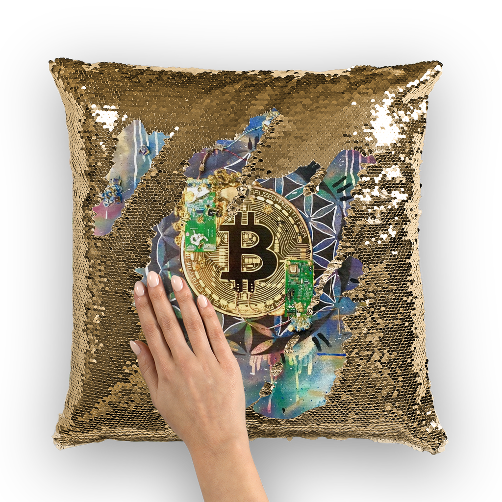 BTC EVERYTHING Sequin Cushion Cover
