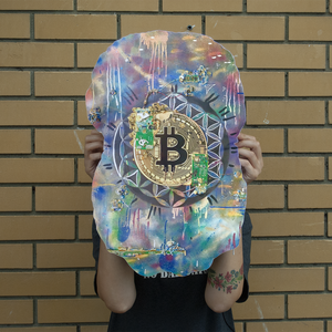 BTC EVERYTHING Giant Face Cushion