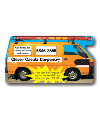 Fridge Magnets Van with Ladder 48 x 90 - Clever Fridge Magnets