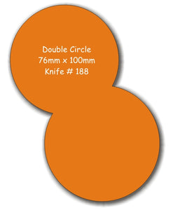 Fridge Magnets Double Circle 76 x 100 - Clever Fridge Magnets