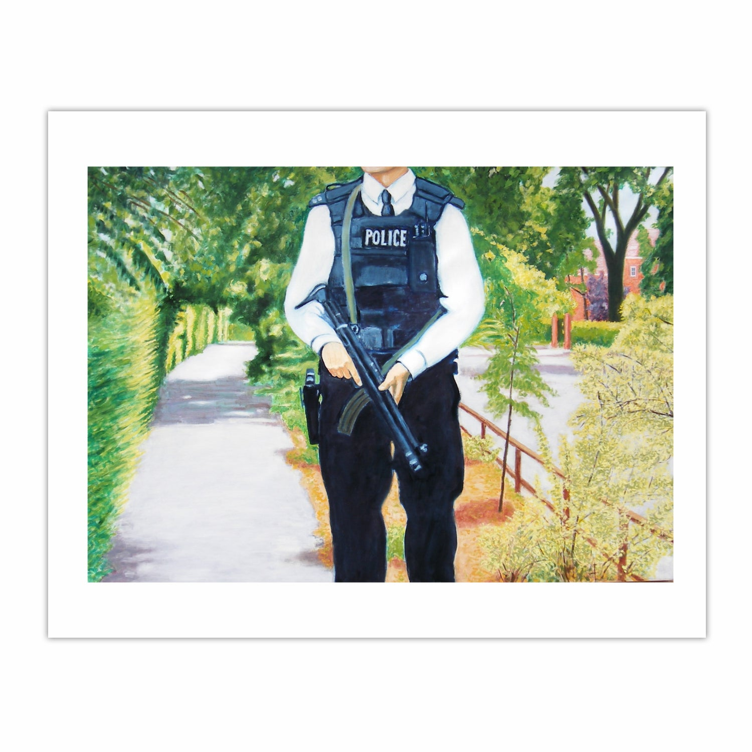 'Armed Police' , (2006), oil on linen, 140 x 100 cm.