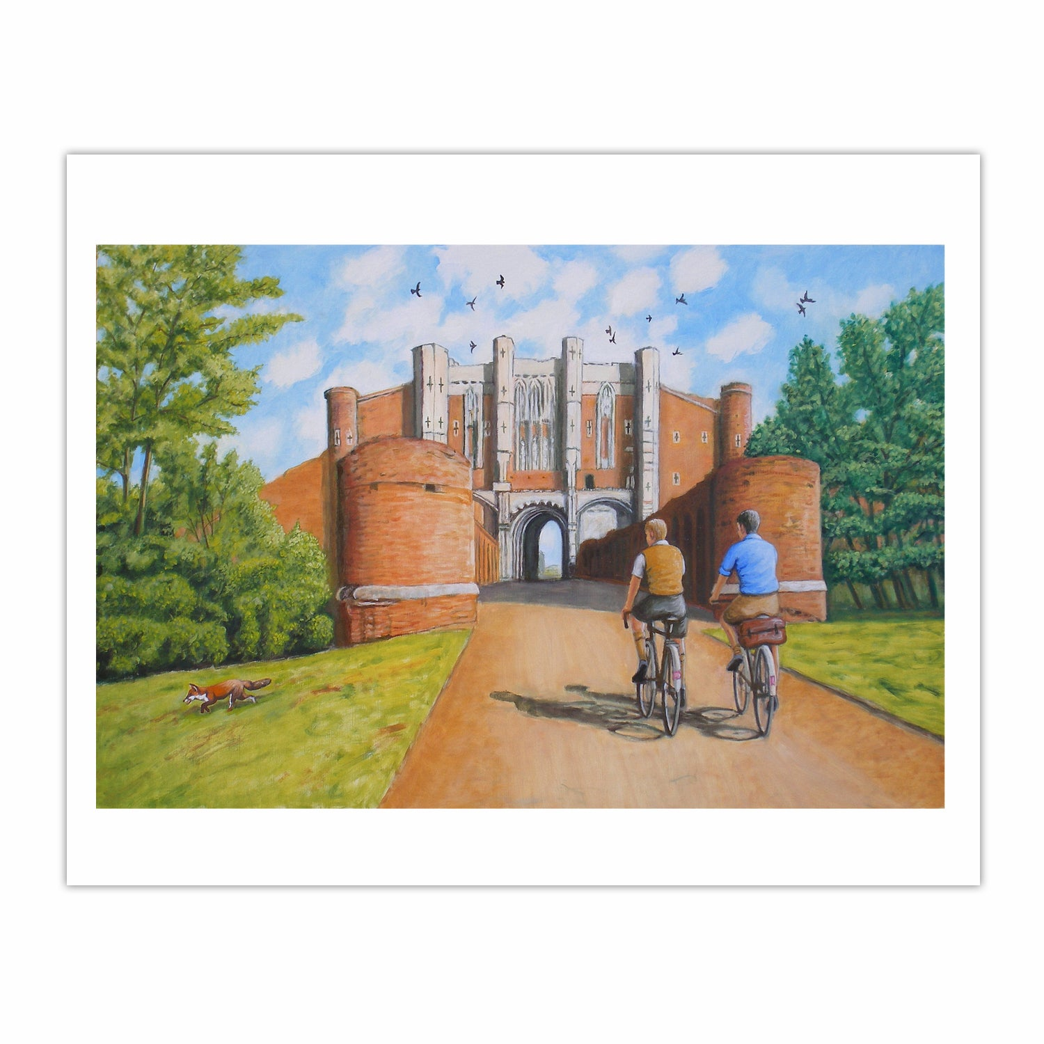 Arrival at Thornton Abbey Gatehouse (2013) oil on linen, 71 x 107 cm