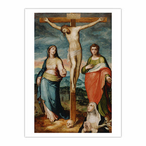 Christ on the Cross with Saints Mary, John the Evangelist and Catherine of Siena