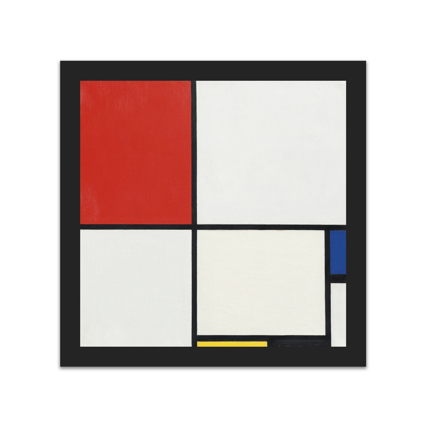 Composition No. III, with Red, Blue, Yellow, and Black