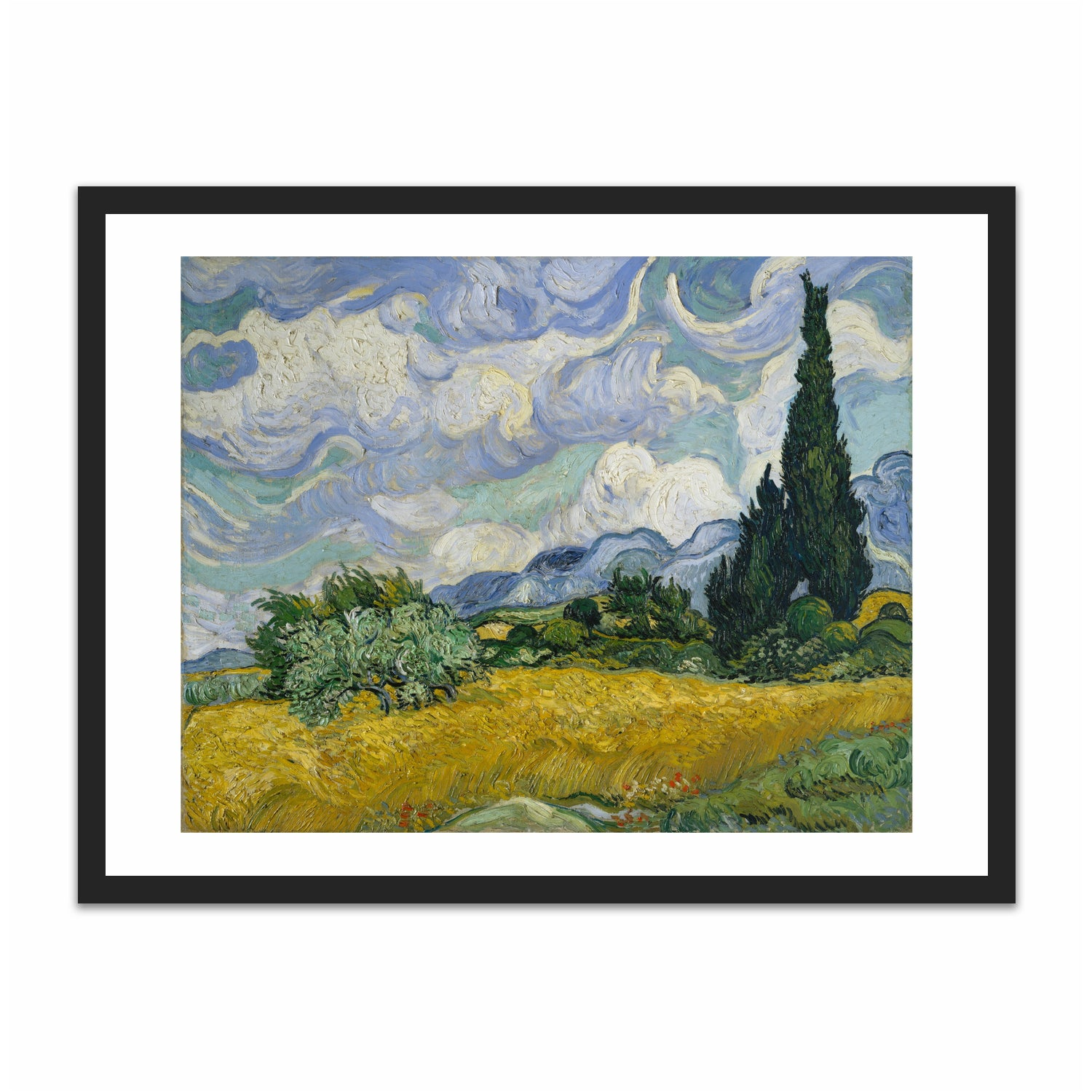A Wheatfield, with Cypresses
