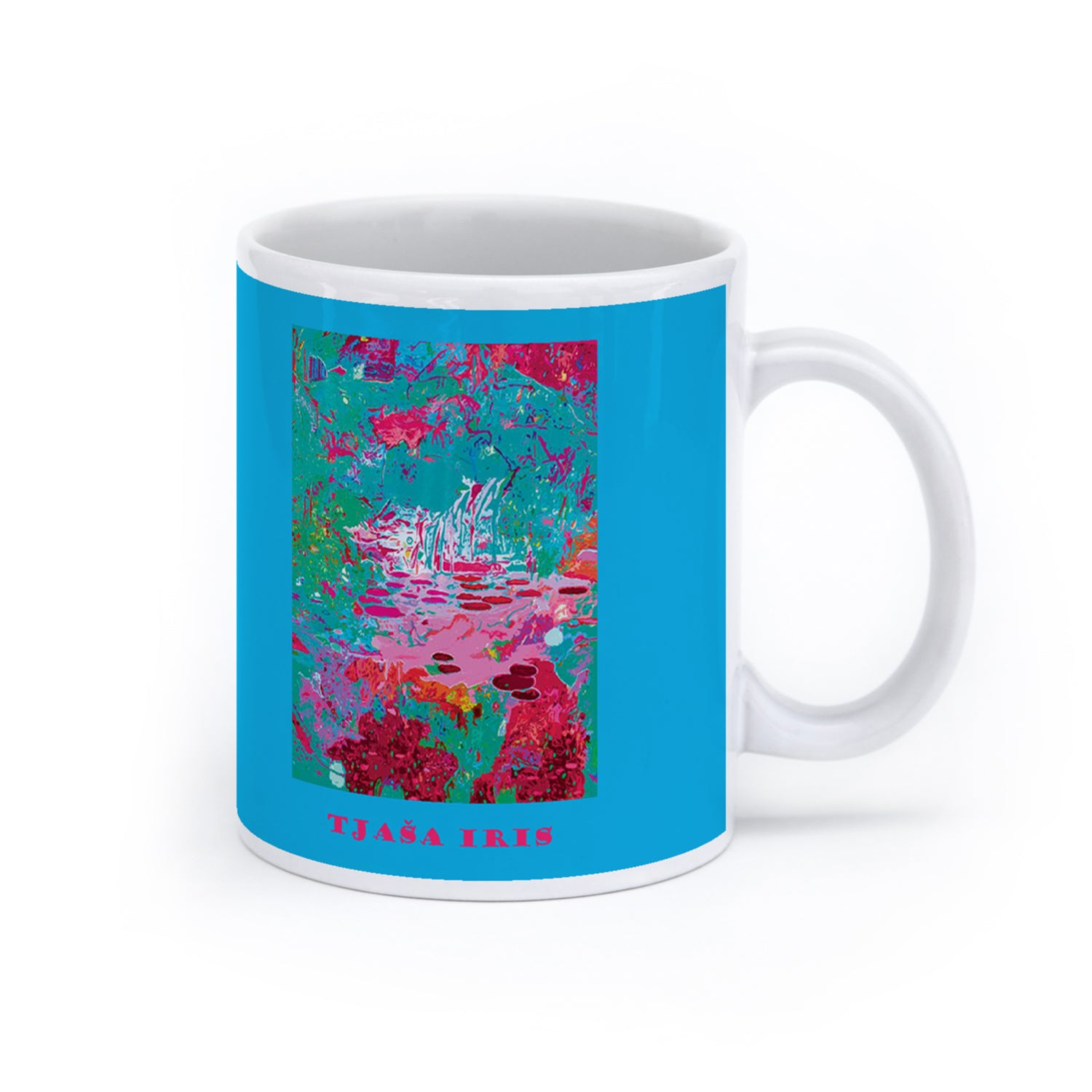 "LIGHT IN THE GARDEN, ""Light Blue"", LE print of 35, 2014 mug"