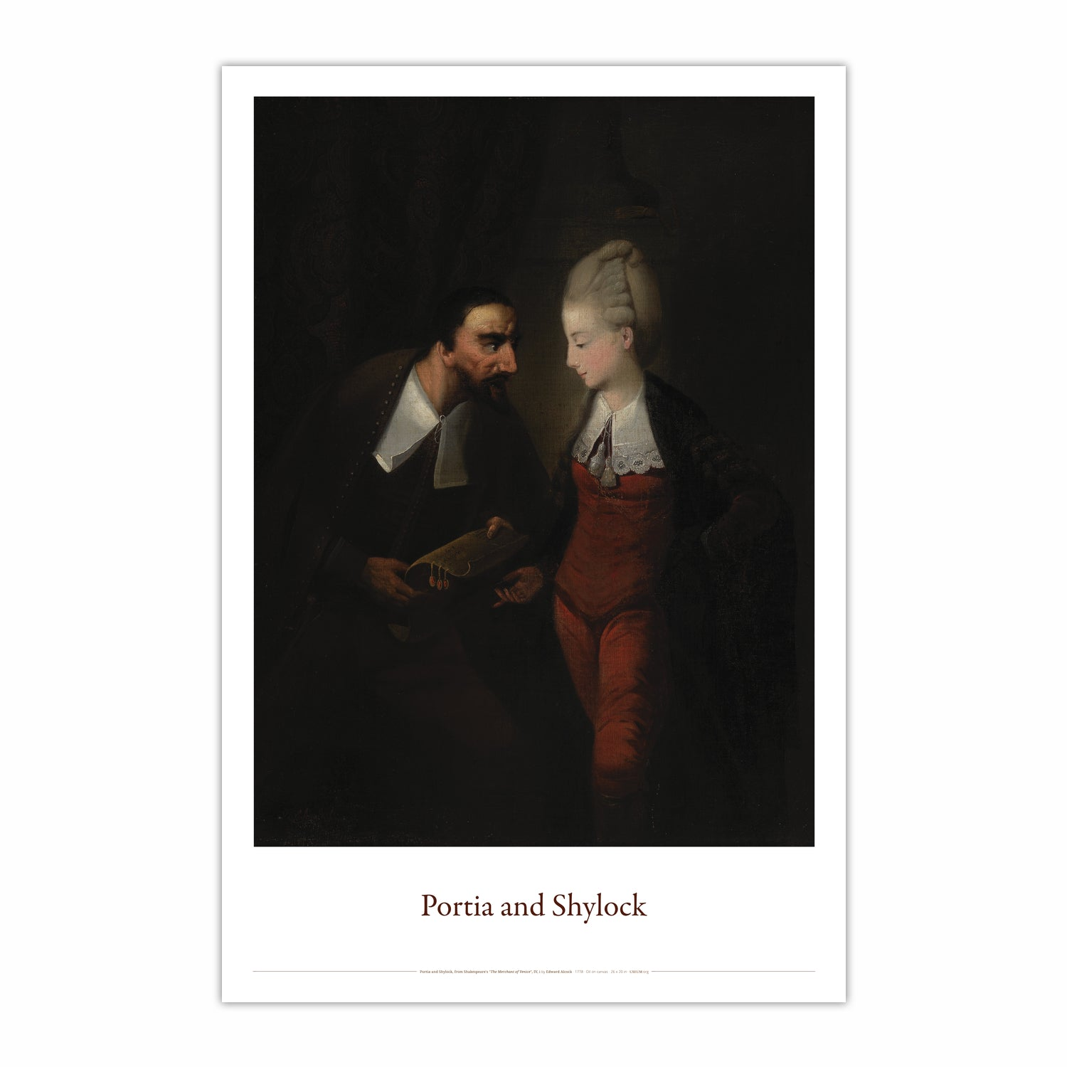 "Portia and Shylock, from Shakespeare's ""The Merchant of Venice"", IV, i"