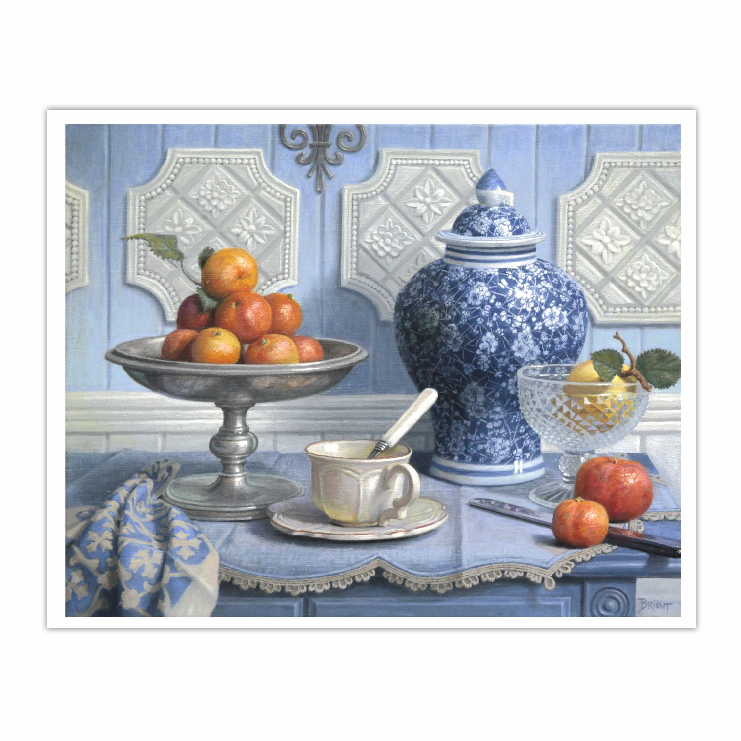 Still Life with a Chinese Vase and a Plate of Clementines