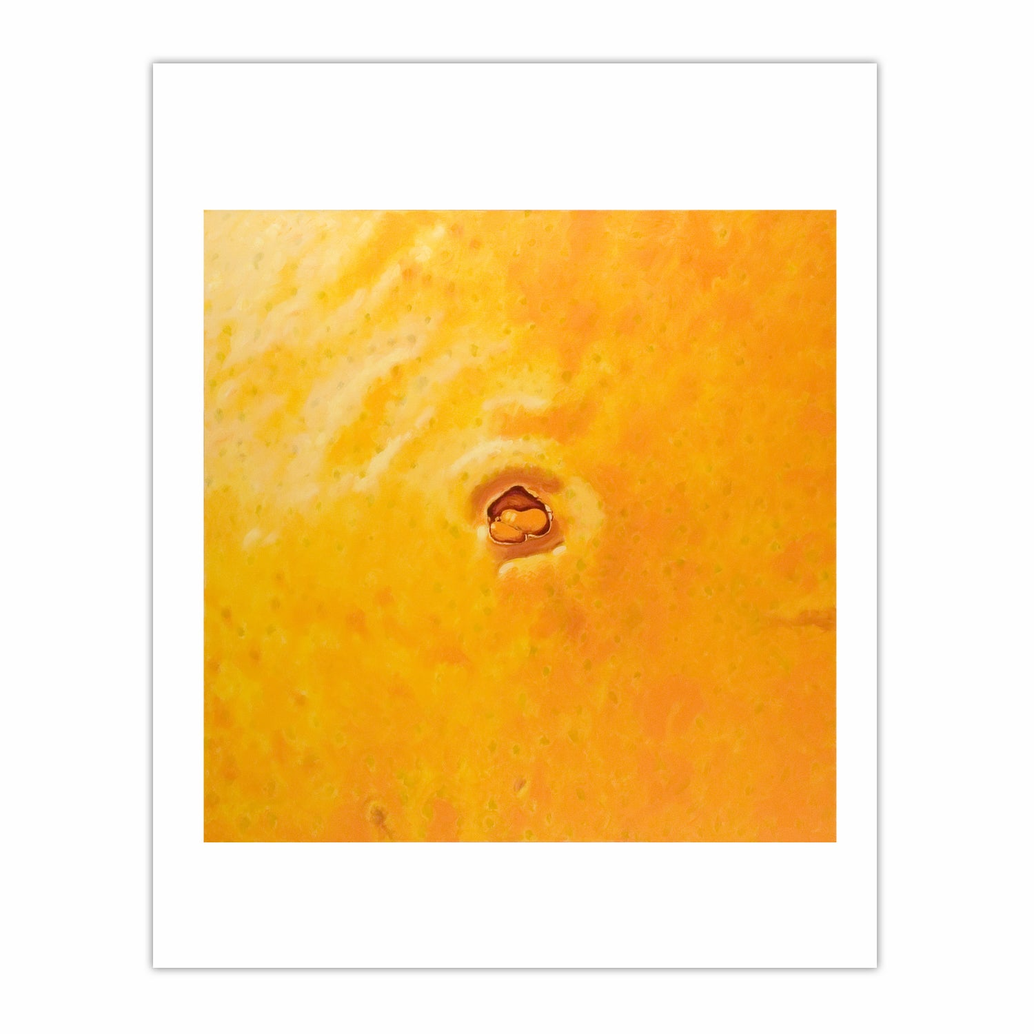 'Orange navel 2' 2005, oil on canvas, 130 x 130 cm